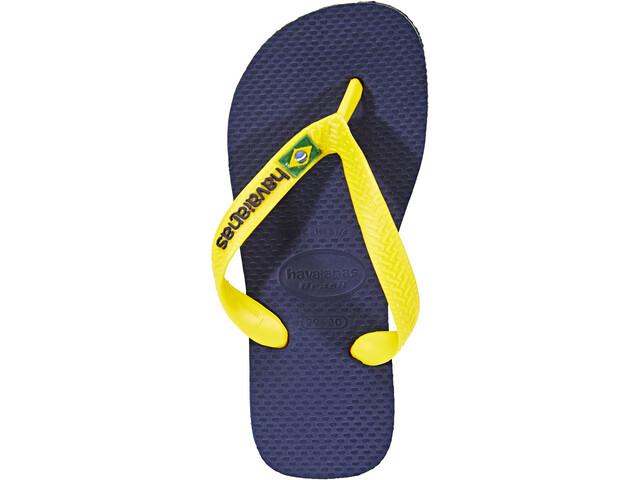 beeaf1d59 havaianas Brasil Logo Sandals Men yellow blue at Addnature.co.uk